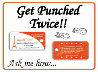 Get Punched Twice Card